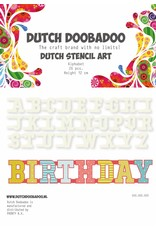Dutch Doobadoo Dutch Stencil Art A5 Alphabet A-Z (26 stencils)