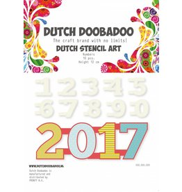 Dutch Doobadoo Dutch Stencil Art A5 Numbers 0-9