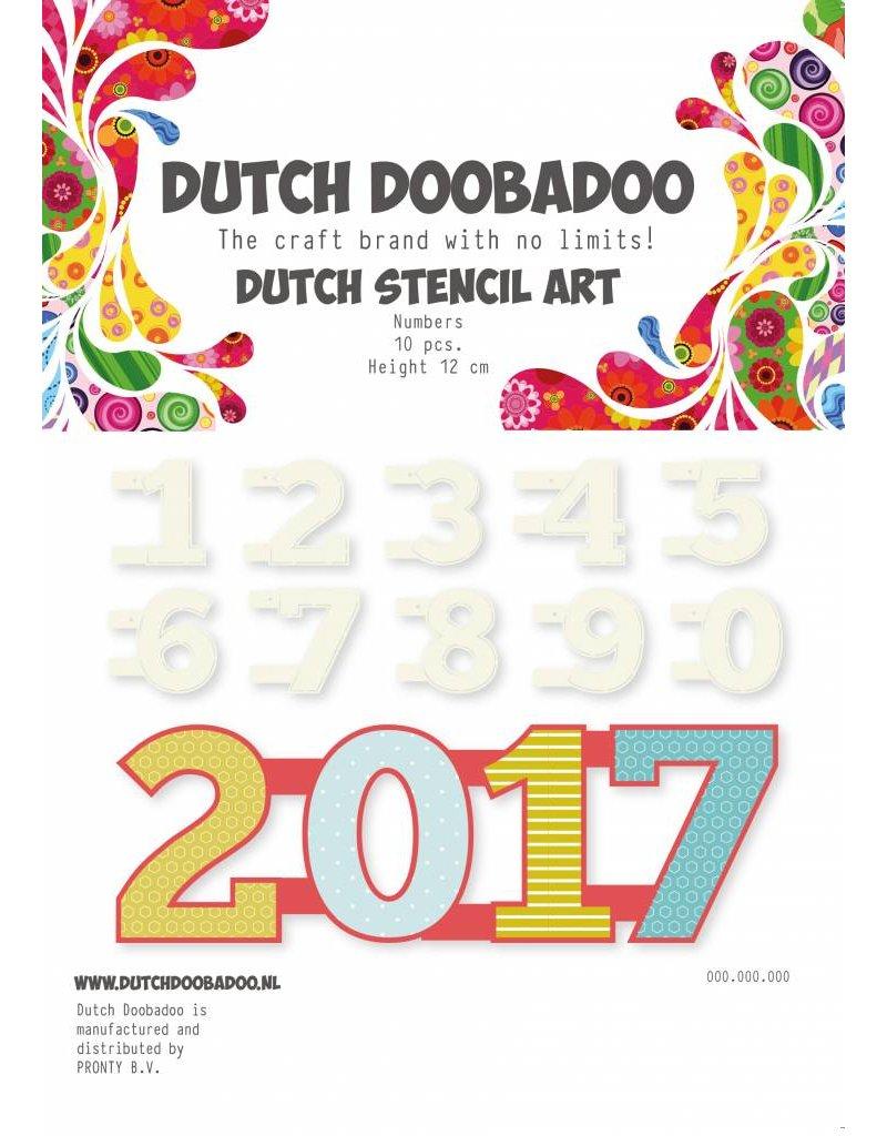 Dutch Doobadoo Dutch Stencil Art A5 Numbers 0-9