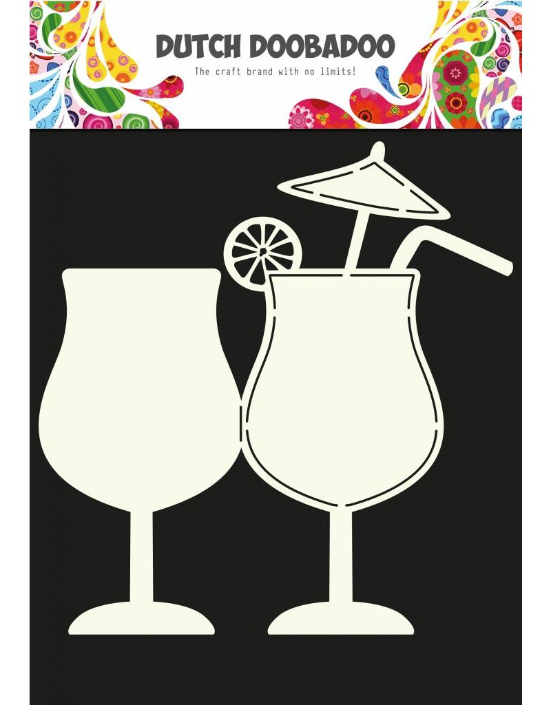 Dutch Doobadoo Dutch Fold Card Art Cocktail A5