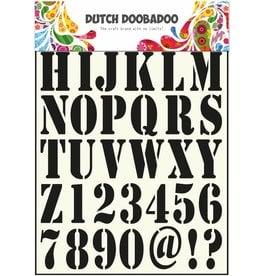 Dutch Doobadoo Dutch Stencil Art A4 Alphabet