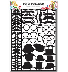 Dutch Doobadoo Dutch Paper Art A5 Black Mustaches