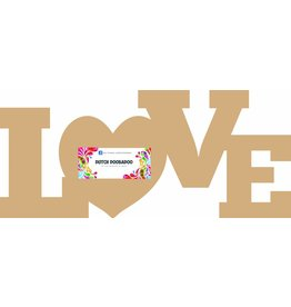 "Dutch Doobadoo Dutch MDF Art Word ""LOVE"""