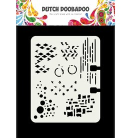 Dutch Doobadoo Dutch Mask Art Rollerdex Pattern 102 x 82 mm