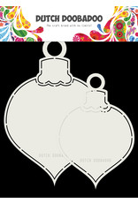 Dutch Doobadoo Dutch Shape Art 2x Christmas Bauble 13x19cm
