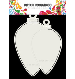 Dutch Doobadoo Dutch Christmas baubles oval 12x21 cm