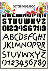 Dutch Doobadoo Dutch Stencil Art A4 Alphabet 4