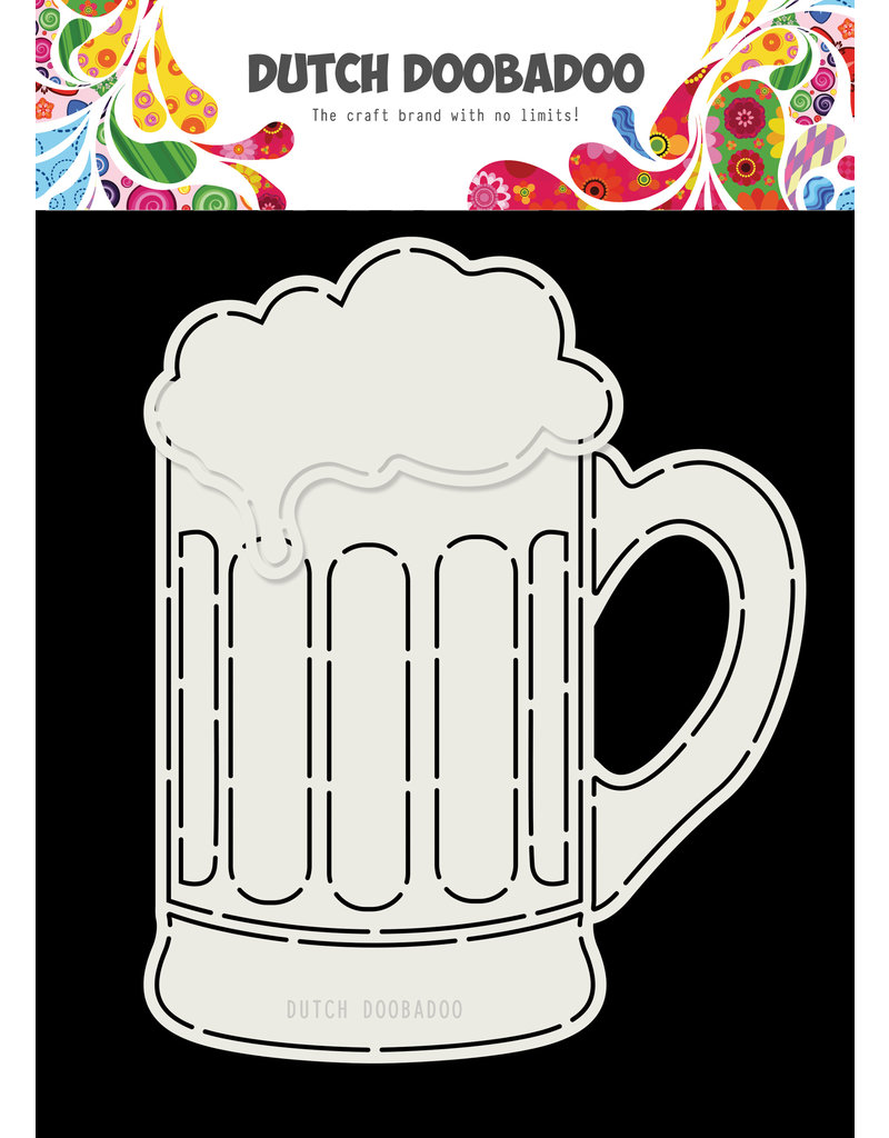 Dutch Doobadoo Dutch Card Art Beer glass A5