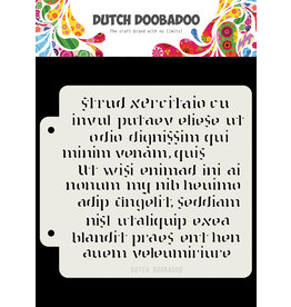 Dutch Doobadoo DDBD Dutch Mask Art Script 163x148