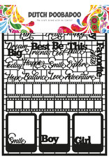 Dutch Doobadoo DDBD Dutch Paper Art A5 Teksten