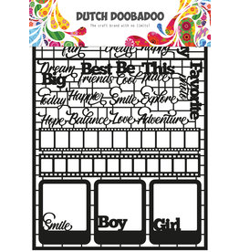 Dutch Doobadoo DDBD Dutch Paper Art A5 Teksten