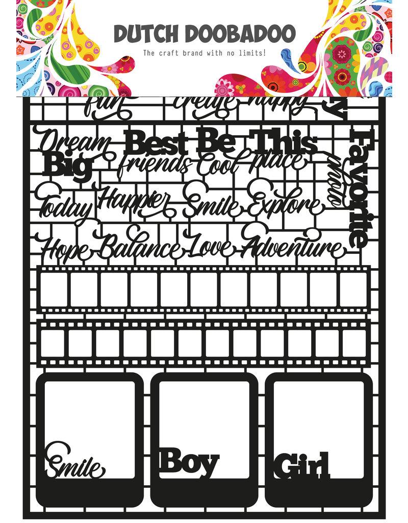 Dutch Doobadoo DDBD Dutch Paper Art A5 Text