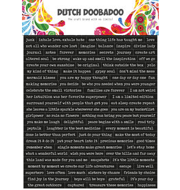 Dutch Doobadoo DDBD Dutch Sticker Art A5 Quotes
