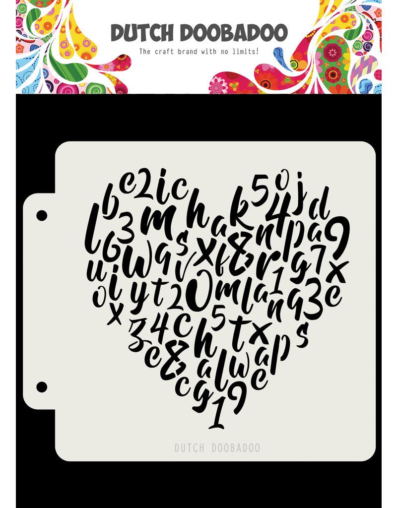 Dutch Doobadoo DDBD Dutch Mask Alphabet heart163x148