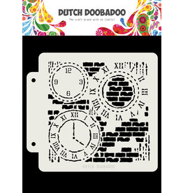 Dutch Doobadoo DDBD Dutch Mask Grunge Clock