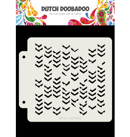 Dutch Doobadoo DDBD Dutch Mask Grunge Chrevrons