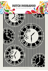 Dutch Doobadoo DDBD Mask Art A4 Clocks Stripes
