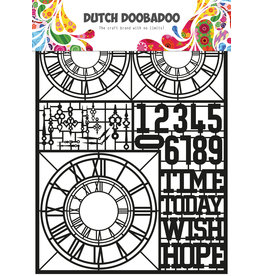 Dutch Doobadoo DDBD Dutch Paper Art A5 Clocks