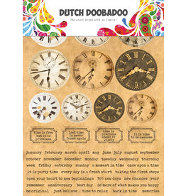 Dutch Doobadoo DDBD Dutch Sticker Art A5 Clocks