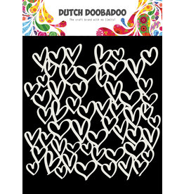 Dutch Doobadoo DDBD Mask Art 15X15cm hearts