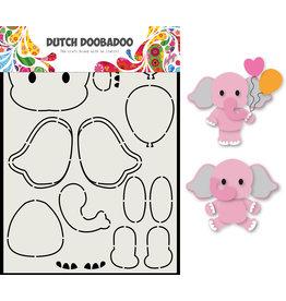 Dutch Doobadoo DDBD Card Art Olifant A5