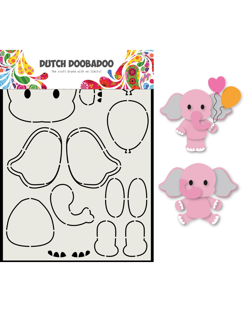 Dutch Doobadoo DDBD Card Art Olifant A5