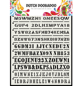 Dutch Doobadoo DDBD Dutch Mask Art Strips A5