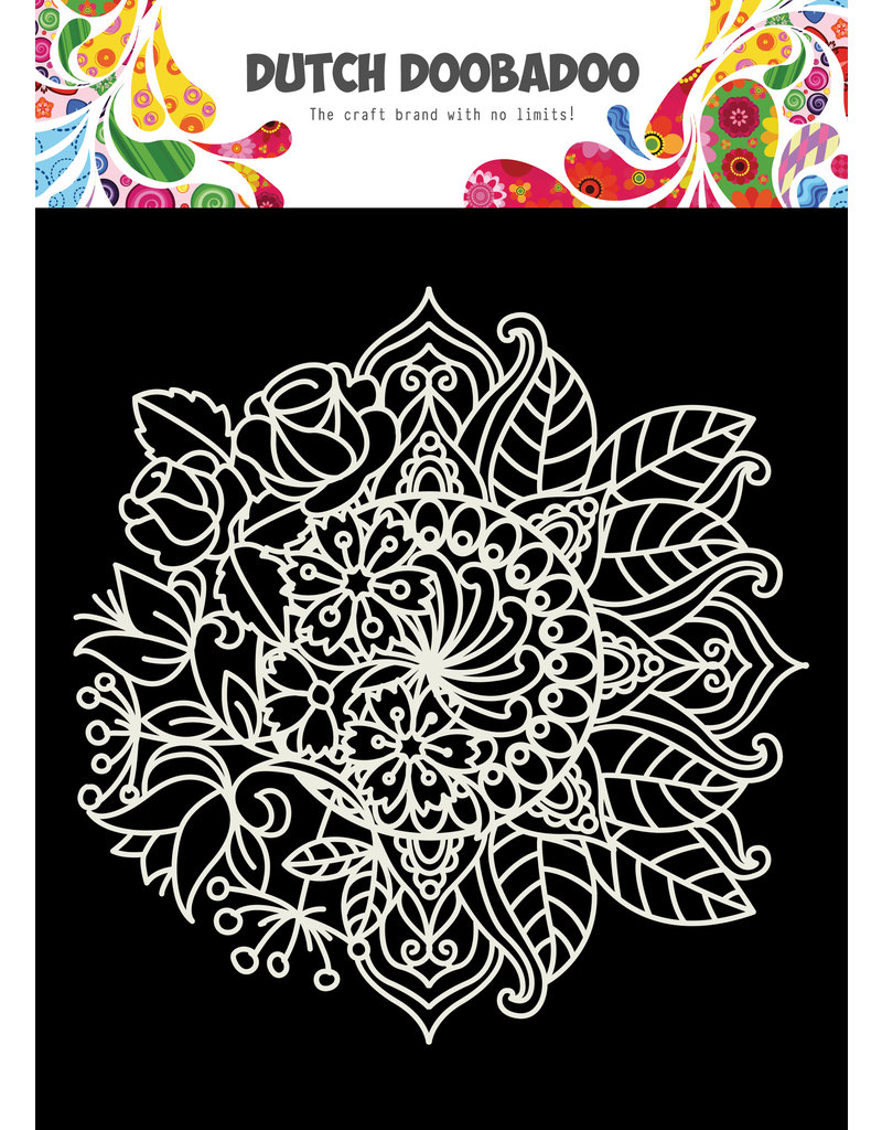 Dutch Doobadoo DDBD Mask Art 15X15cm Mandala met bloem