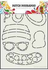 Dutch Doobadoo DDBD Card Art Built up Bear Zomer A5