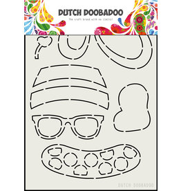 Dutch Doobadoo DDBD Card Art Built up Bear Zomer A5