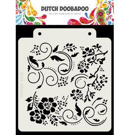 Dutch Doobadoo DDBD Dutch Mask Art Flowers and swirls