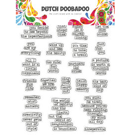 Dutch Doobadoo DDBD Dutch Sticker Art A5 Doodle text