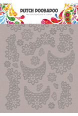Dutch Doobadoo DDBD Greyboard Art Lace flowers A5
