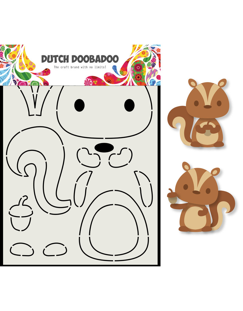 Dutch Doobadoo DDBD Card Art Eekhoorn A5