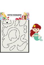 Dutch Doobadoo DDBD Card Art Built up Zeemeermin