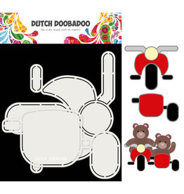 Dutch Doobadoo DDBD Card Art Motor en zijspan 2 set A5