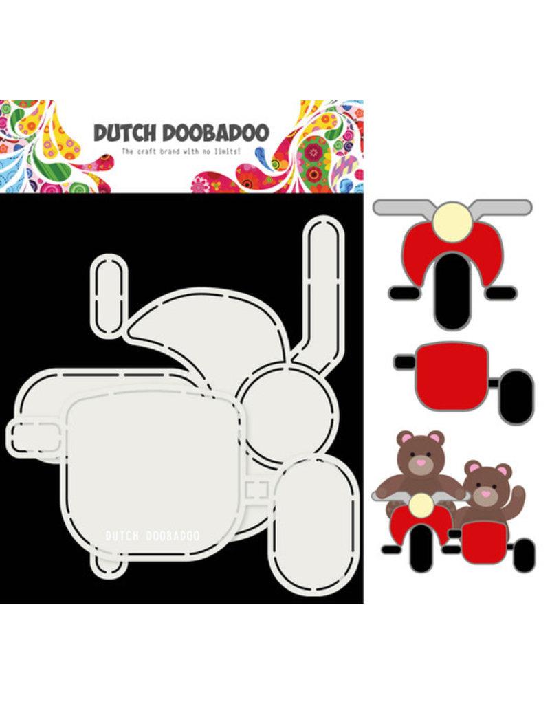 Dutch Doobadoo DDBD Card Art Motor en zijspan 2 set A5