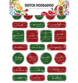 Dutch Doobadoo DDBD Dutch Sticker Art A5 Christmas