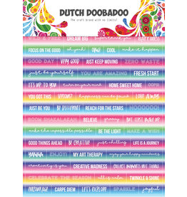 Dutch Doobadoo DDBD Dutch Sticker Art A5 Text Mandalas