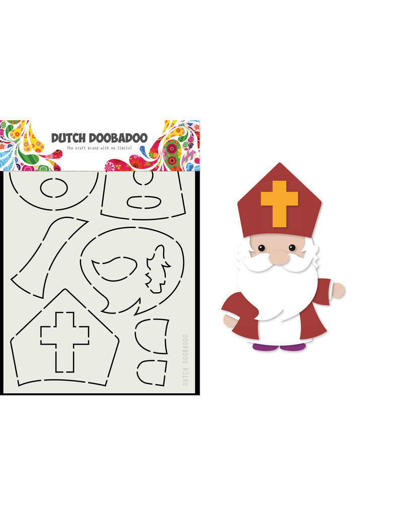 Dutch Doobadoo DDBD Card Art Built up Sinterklaas A5