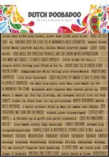 Dutch Doobadoo DDBD Dutch Sticker Art A5 Text English