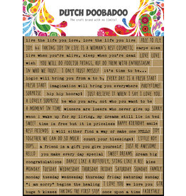 Dutch Doobadoo DDBD Dutch Sticker Art A5 Text English