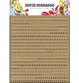 Dutch Doobadoo DDBD Dutch Sticker Art A5 Alphabet