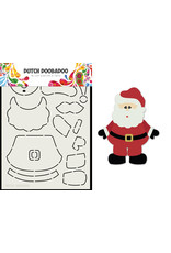 Dutch Doobadoo DDBD Card Art Built up Santa