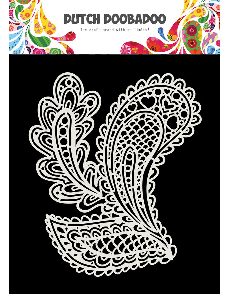 """Dutch Doobadoo DDBD Dutch Mask Art """"Drop shapes"""" A5"""