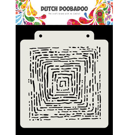 "Dutch Doobadoo DDBD Dutch Mask Art ""Grunge lines"" 163x 148 mm"