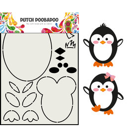 Dutch Doobadoo DDBD Card Art Built up Pinguin