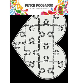 Dutch Doobadoo DDBD Card Art A5 Puzzel hart