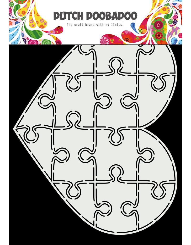 Dutch Doobadoo DDBD Card Art A5 Puzzel hart