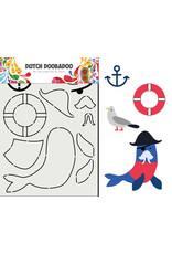 Dutch Doobadoo DDBD Card Art Built up Zeeleeuw